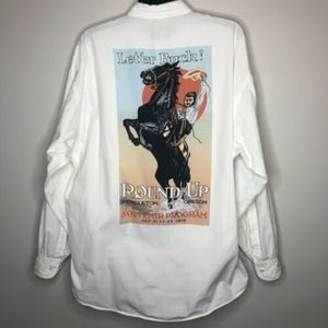 VTG Pendleton Western Rodeo Button Down Shirt L